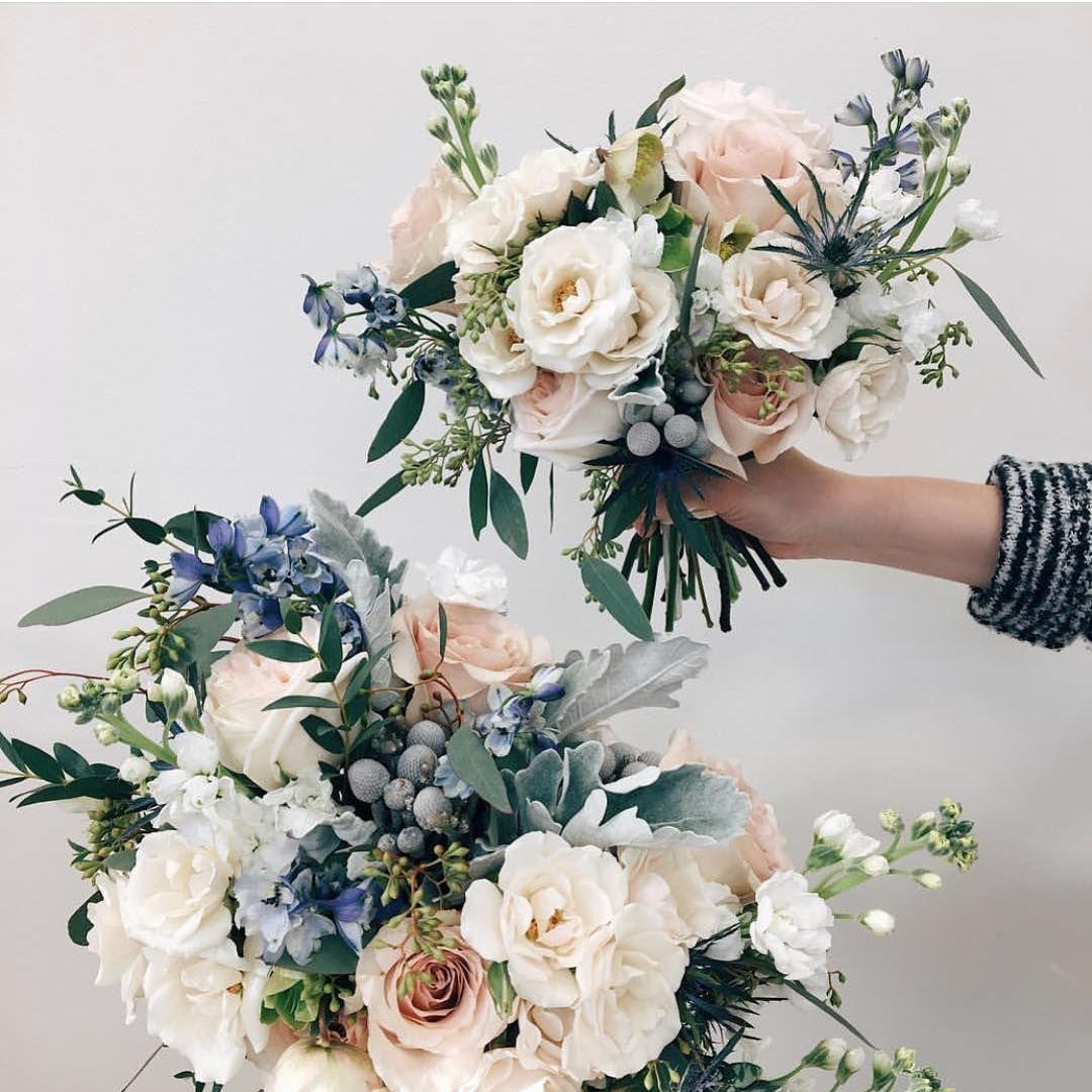 "Rebecca Schoneveld Bridal on Instagram: ""Wintery florals via @academyflorist"" #flowerbouquetwedding"