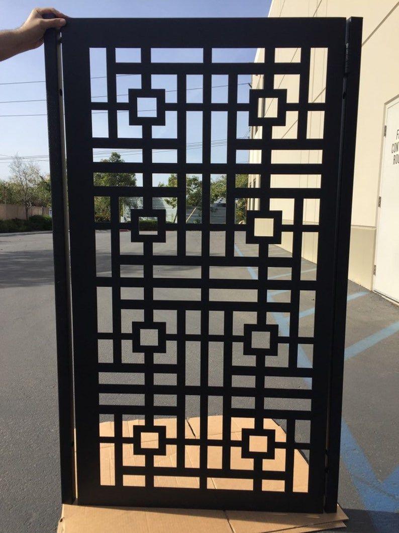 Urban Design Modern Metal Gate Custom Pedestrian Gat Garden Etsy House Gate Design Metal Gates Design Grill Door Design