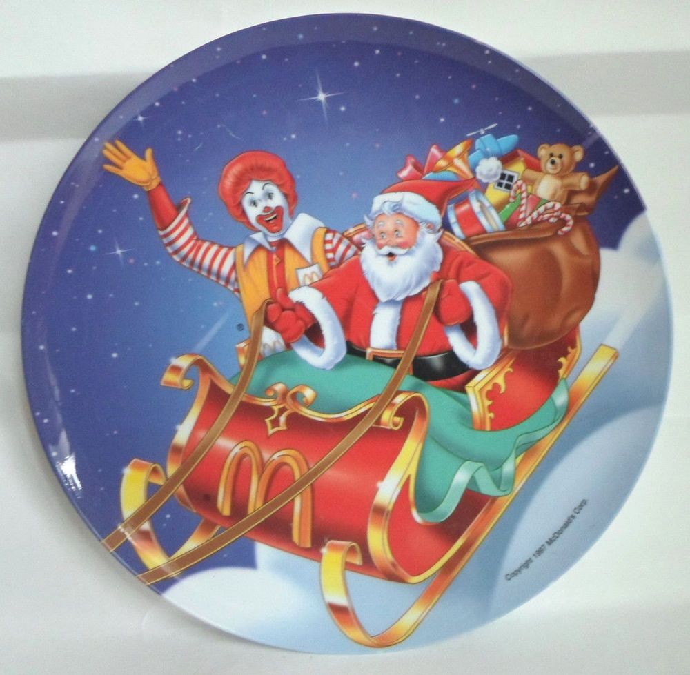 Holiday Plate Ronald McDonald McDonald/'s Christmas Vintage New