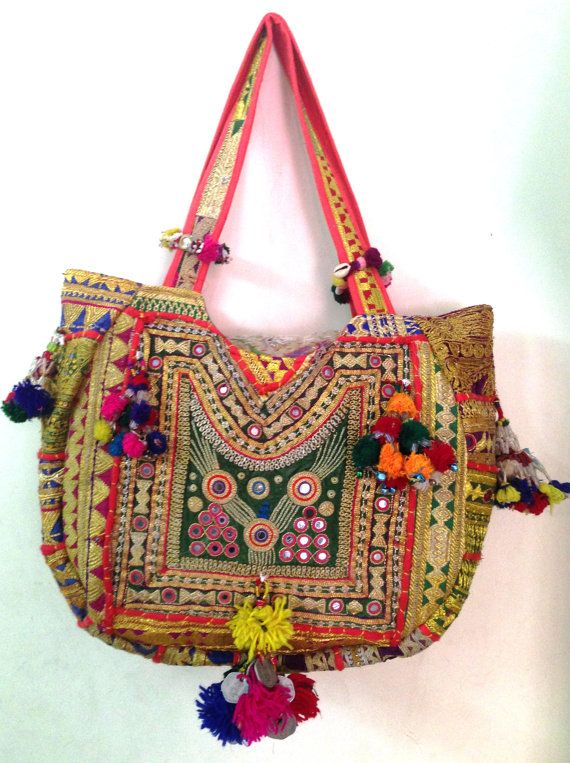 Vintage tribal kutchi banjara bag boho Indian gypsy hand ...