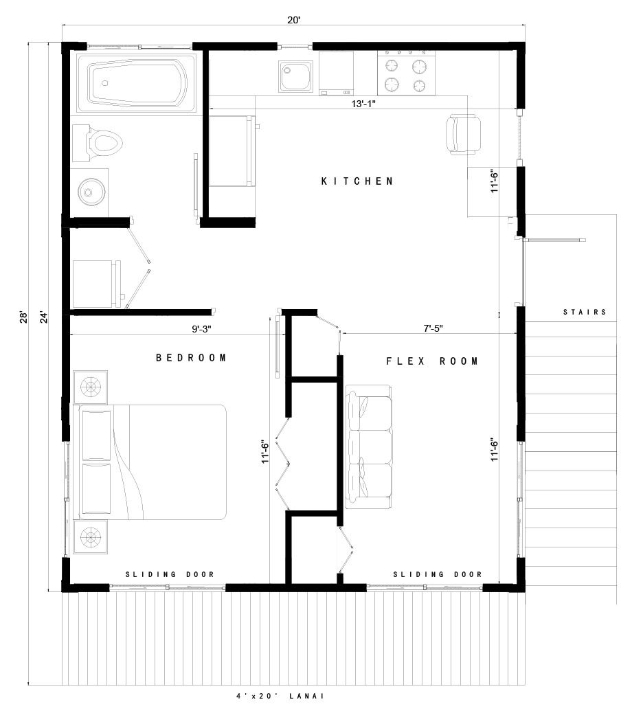 Image Result For Accessory Dwelling Unit Floor Plan Accessory Dwelling Unit Build Your Own House Floor Plans