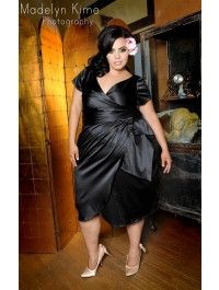 Pinup Couture - Ava Dress in Black - Plus Size