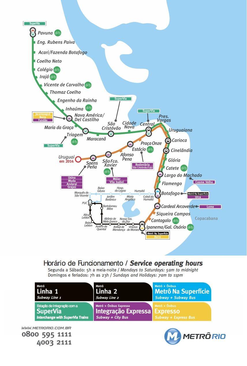 Plano Metro Rio de Janeiro Rio de Janeiro subway infografia