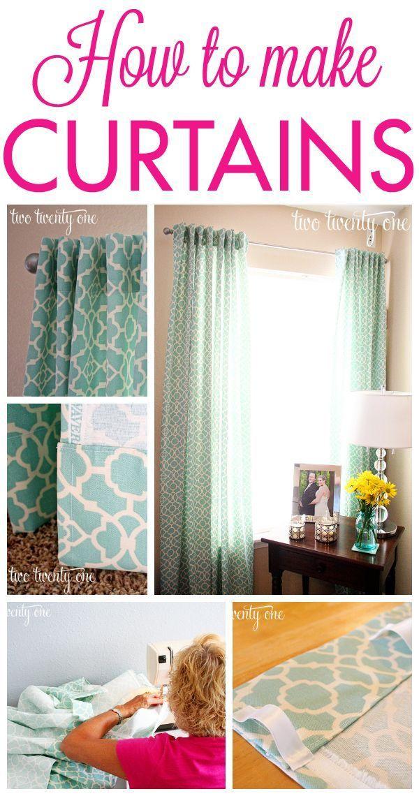 How to Make Curtains {DIY - Gordijnen maken, Gordijnen en Gordijnen ...
