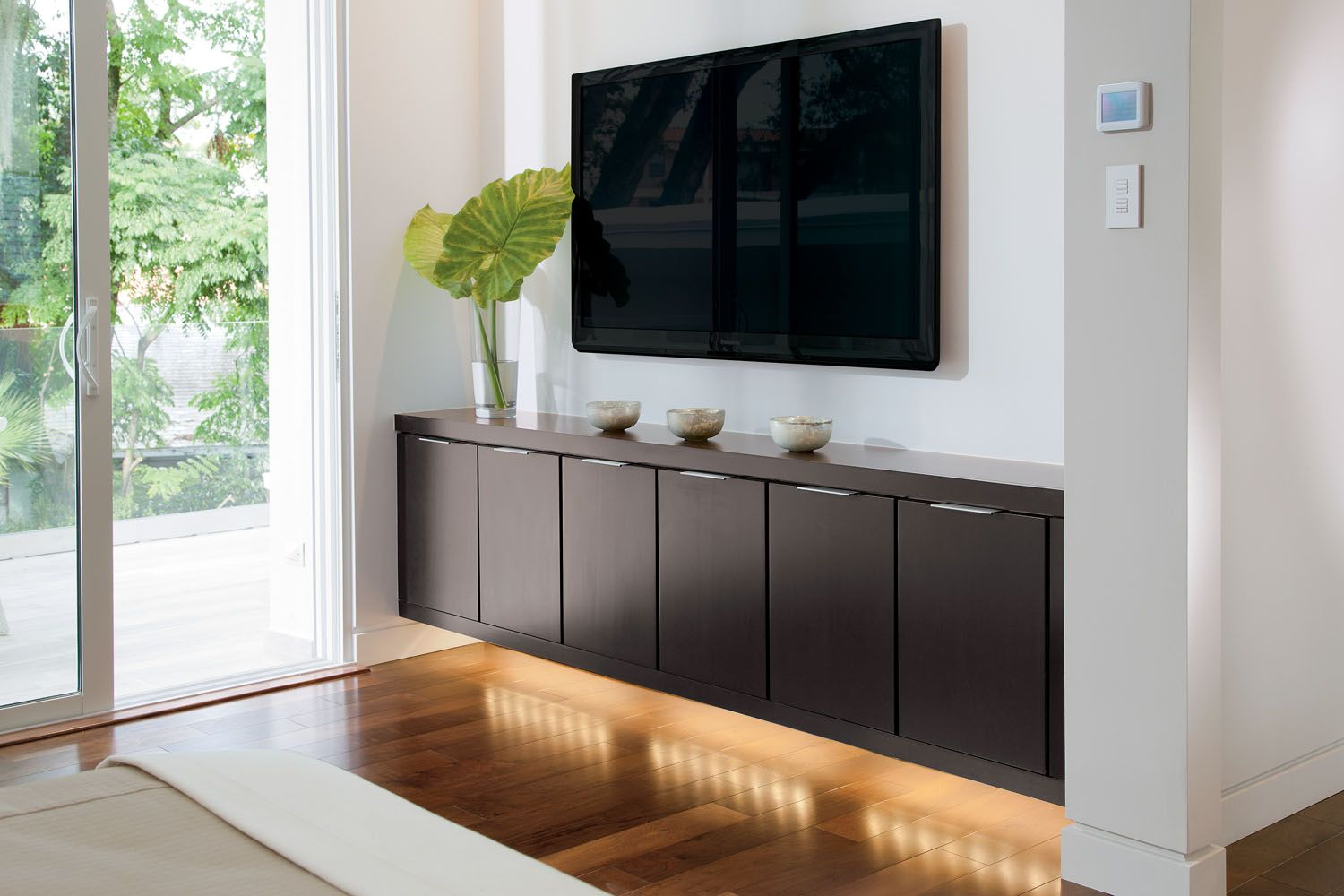 Floating Media Cabinet | Reinvent The Media Room With Cabinetry