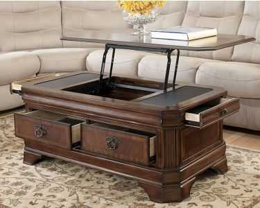Best Rectangular Lift Top Storage Cocktail Table Coffee Table 400 x 300