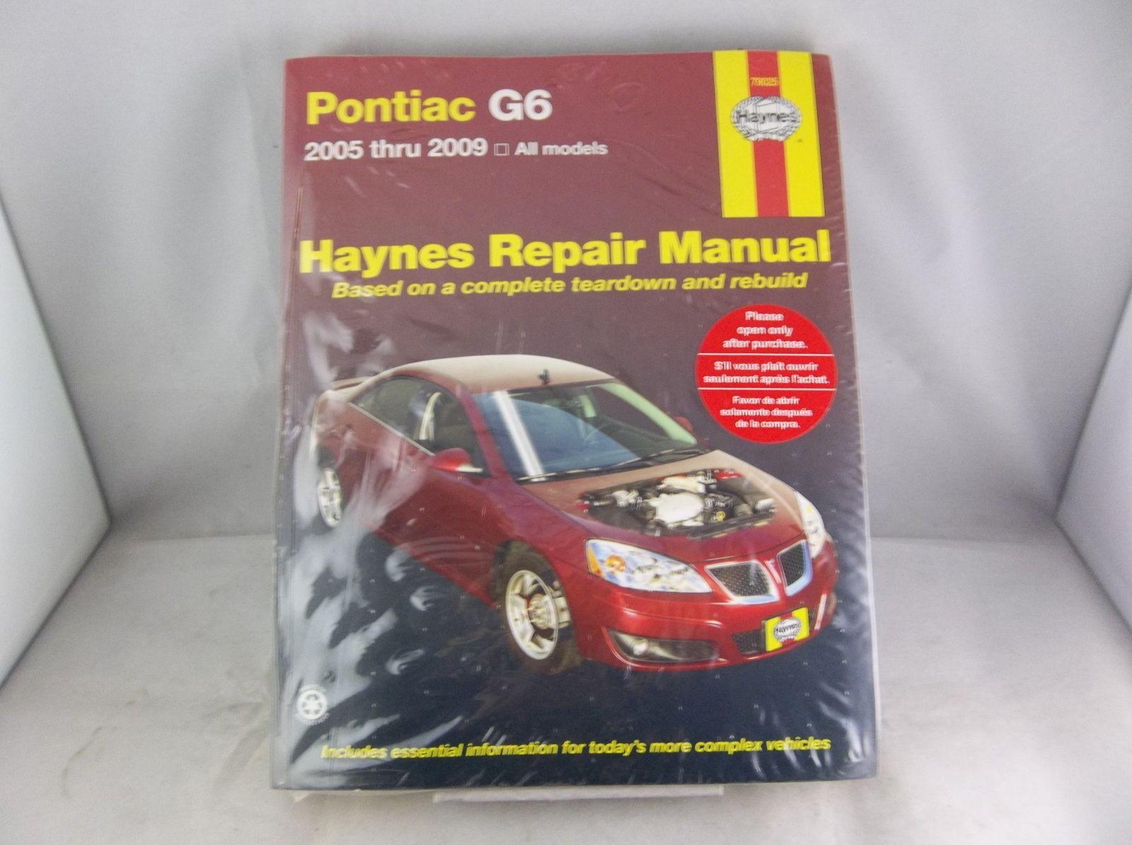 2005 2009 Pontiac G6 Haynes Repair Manual Book 79025 Haynes Repairmanual Books Literature Repair Pontiac G6 Coupe Sedan Repair Manuals Pontiac Repair