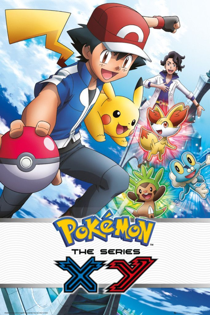 Pokemon XY Official Poster. Official Merchandise. Size