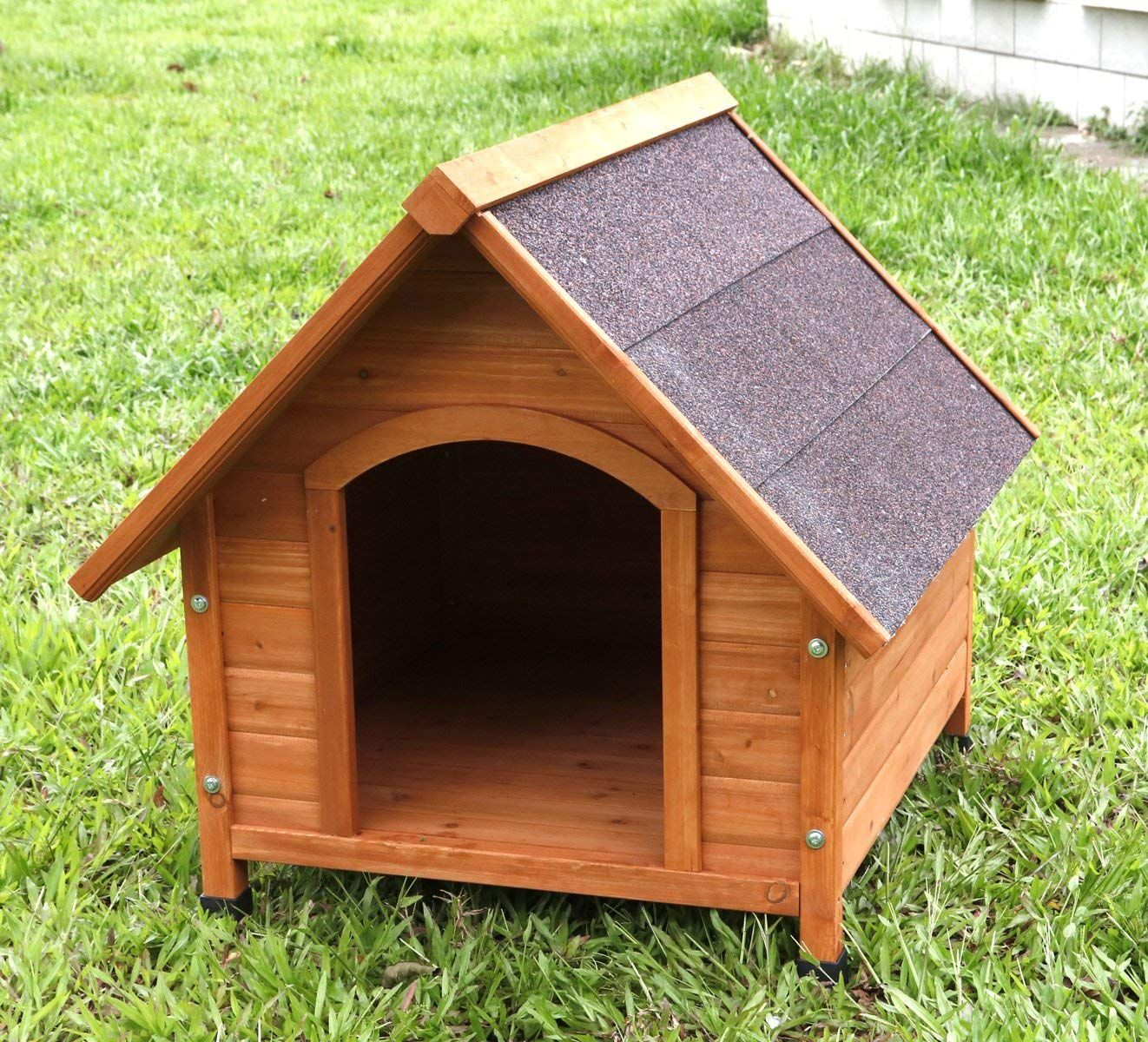 Captain Pet A Frame Waterproof Dog Kennel Deluxe Natural Solid
