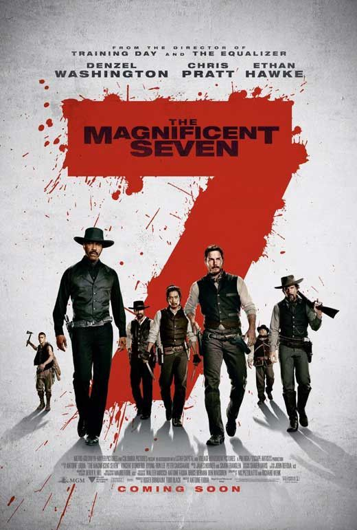 CAST: Haley Bennett, Chris Pratt, Denzel Washington, Matt Bomer, Vincent D'Onofrio, Ethan Hawke, Peter Sarsgaard, Byung-hun Lee, Cam Gigandet, Martin Sensmeier, Vinnie Jones, Luke Grimes, Sean Bridger