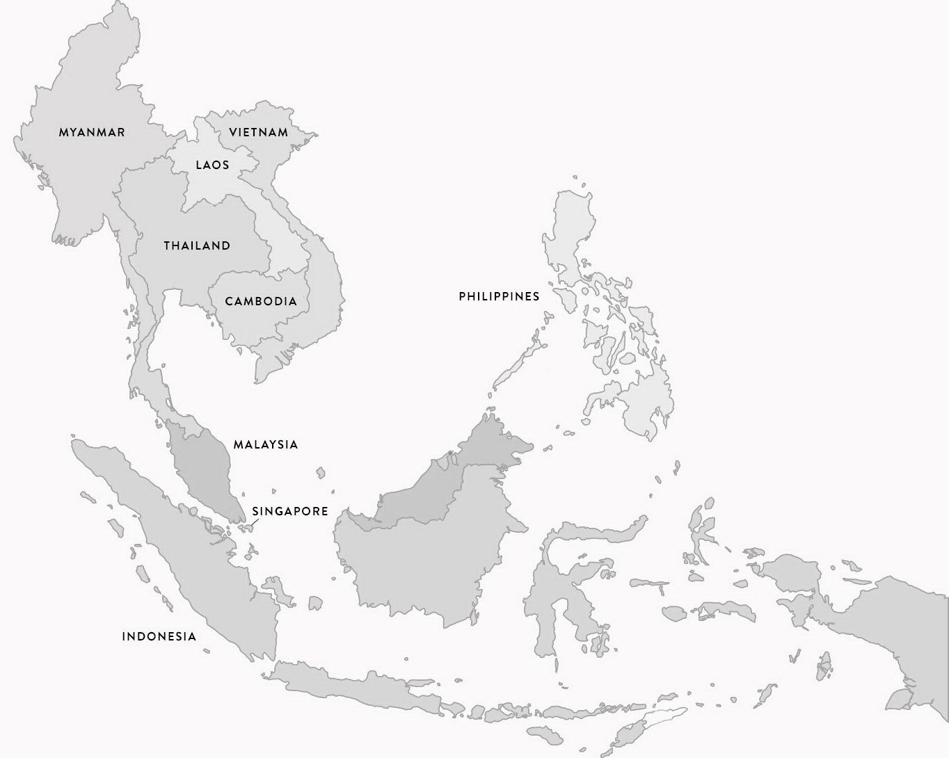 Asean Member Counties Map Asean Countries Flags Maps Emblems Island Info The Full Moon Party Experts Offer Quality Tours And Acti Peta Pendidikan Gambar