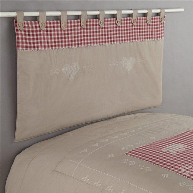 couvre lit et tete de lit assorti Γγρ│ La tête de lit matelassée style chalet assortie au dessus de  couvre lit et tete de lit assorti