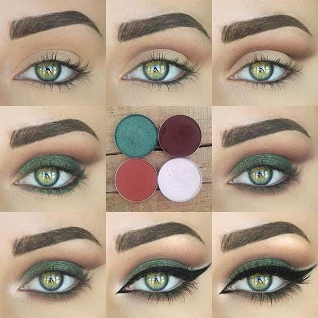 Makeup styles for green