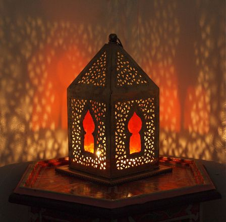 morrocan Orange Mosque Tea Candle Lamp | candles ...