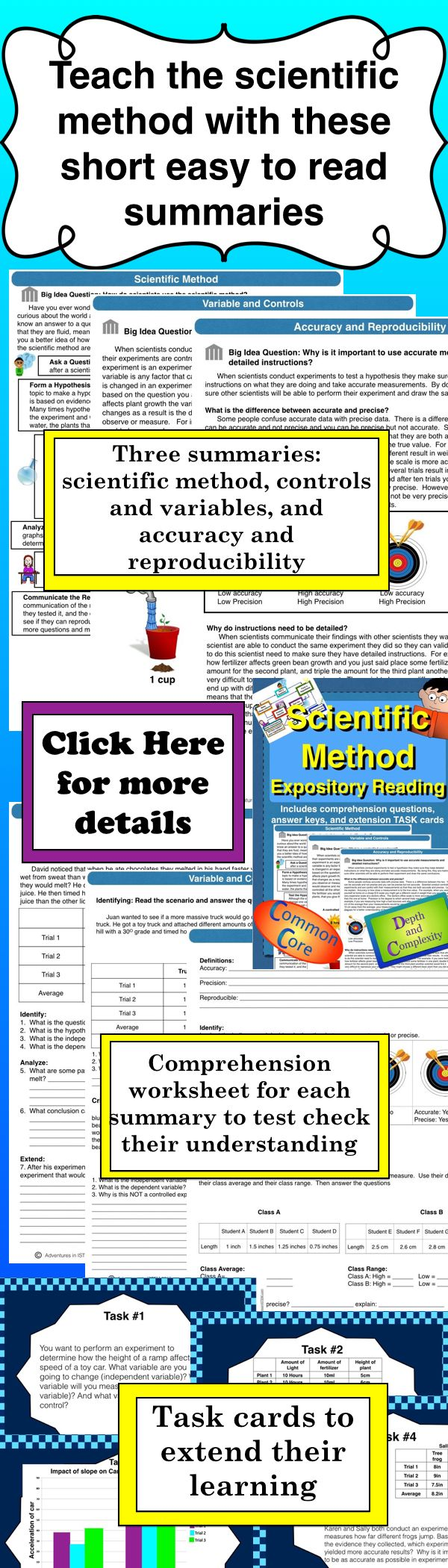 Scientific Method Guided Reading Close Reading Distance Learning Scientific Method Comprehension Worksheets Reading Comprehension Worksheets