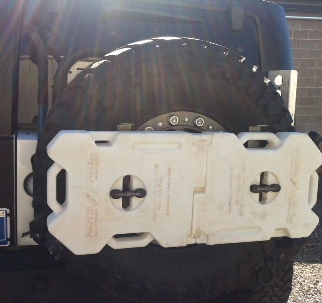 Exo Rack From Vector Off Road Add On To Existing Tire Carrier For Extra Water Fuel Supplies Either Motorcycle Camping Gear Camping Gear Motorcycle Camping