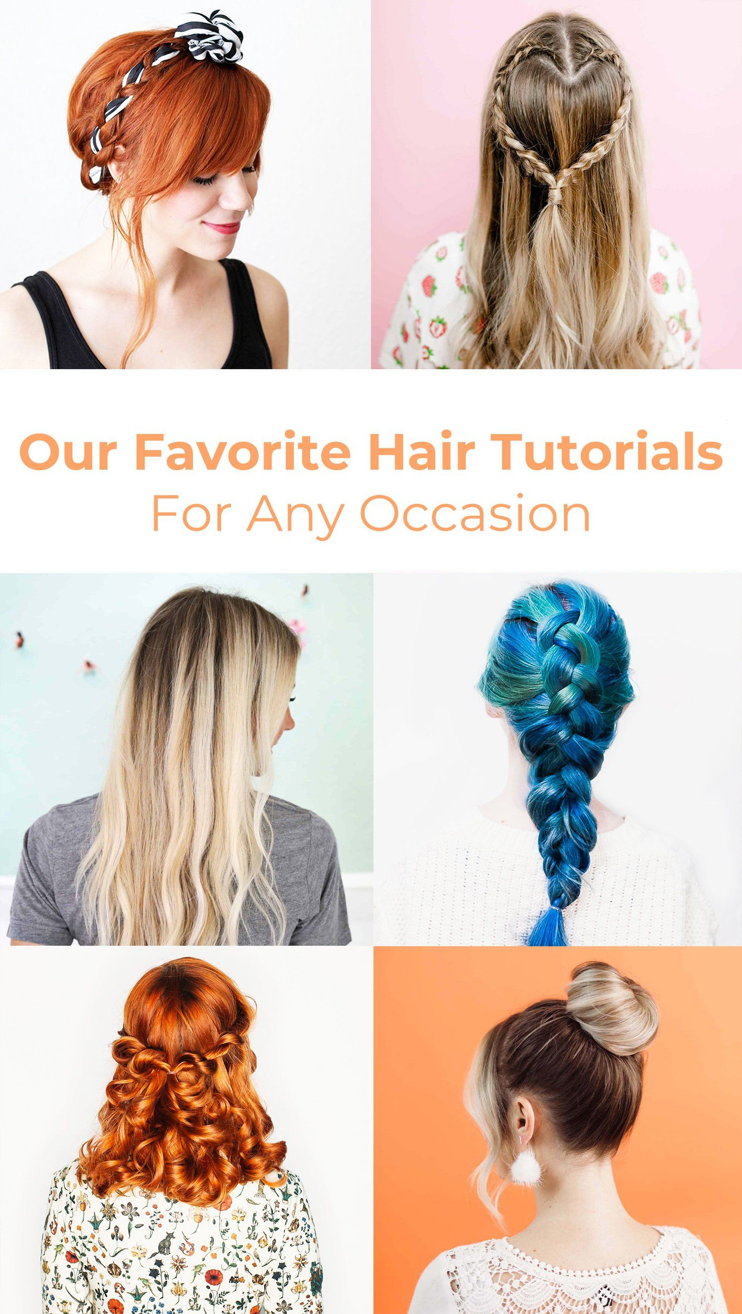 Our Favorite Hair Tutorials For Any Occasion A Beautiful Mess Hair Tutorial Hair Styles Cute Hairstyles For Teens