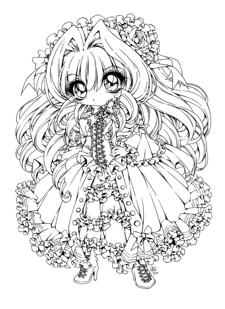 Chevalier Sphinx Inked Chibi Coloring Pages Coloring Pictures Coloring Pages [ 1046 x 764 Pixel ]