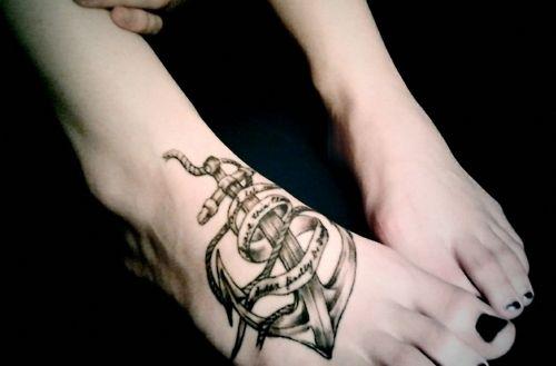 foot tattoo?