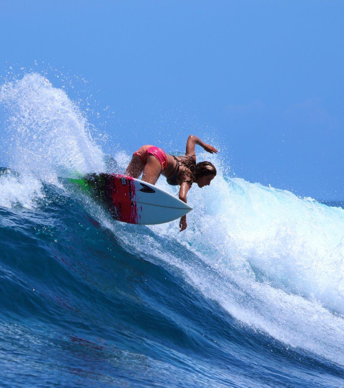 Surf girl Professional Resume TemplateSurf Surf