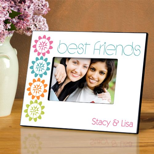 Personalized BFF Playful Peonies Picture Frame | Picture Frames ...