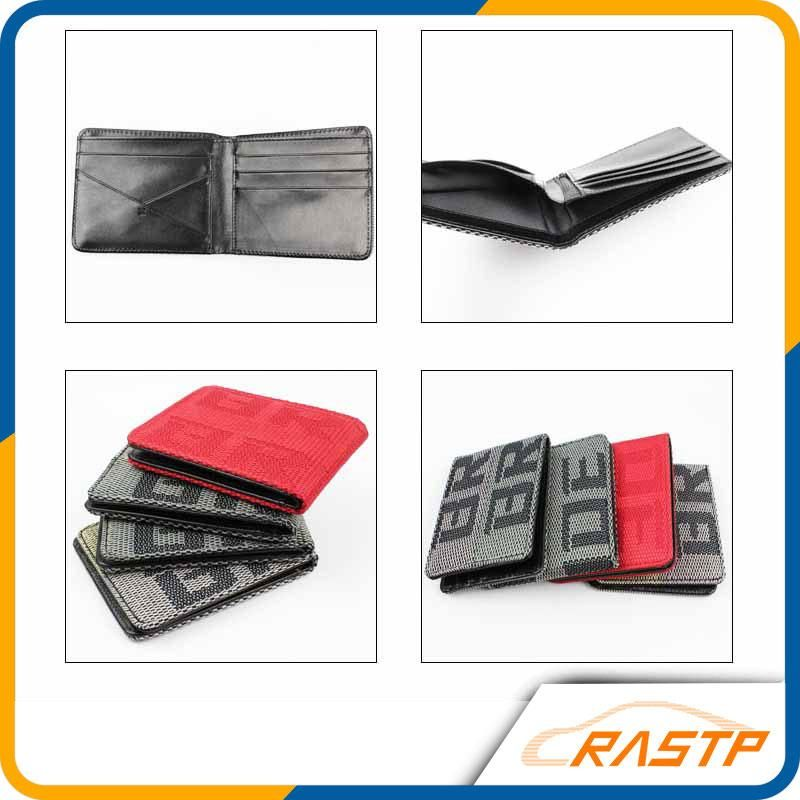 Men/'s Racing Fabric ID Credit Card Holder Bifold BRIDE Wallet Purse Hot Gift