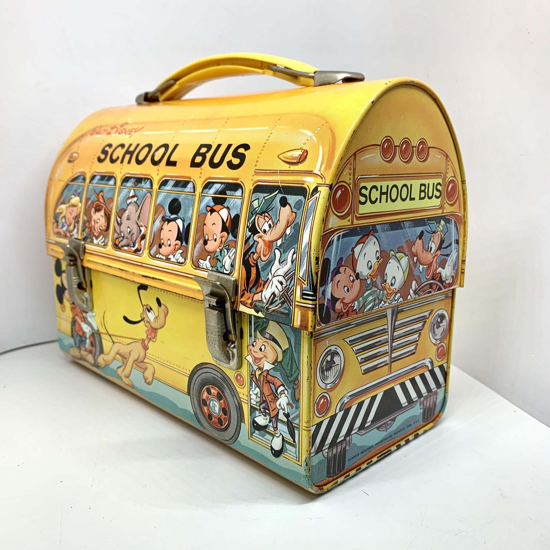 Disney School Bus Lunch Box Vintage Disney Character Bus