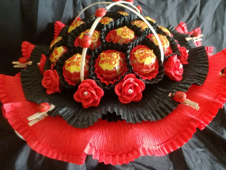 Bukiet Z Lizakow Cukierkow 18 Urodziny Imieniny 7221971158 Oficjalne Archiwum Allegro Desserts Food