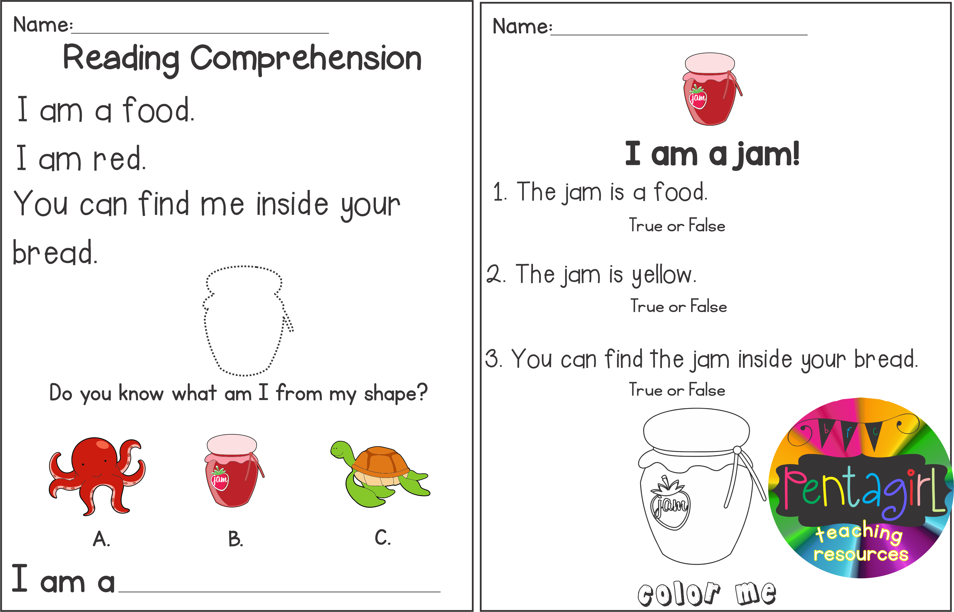 Kindergarten And 1st Grade Activities Reading Comprehension And Riddles