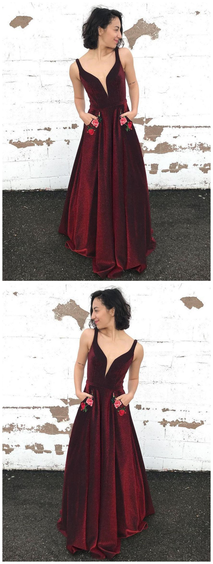 long prom dress burgundy straps floral graduacion long prom