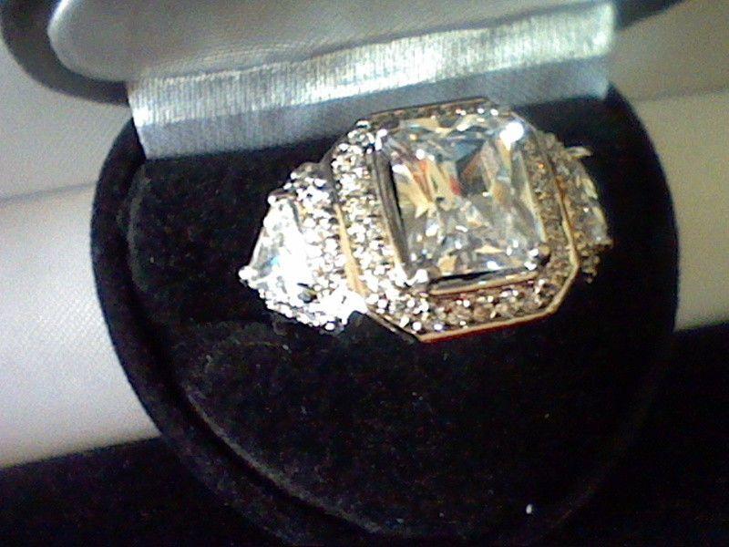 5CTW RADIANT  LC DIAMOND ENGAGEMENT WEDDING RINGS SZ 5 SZ 6 SZ 7 SZ 8 SZ 9 SZ 10 #EXCEPTIONALBUY #SolitairewithAccents