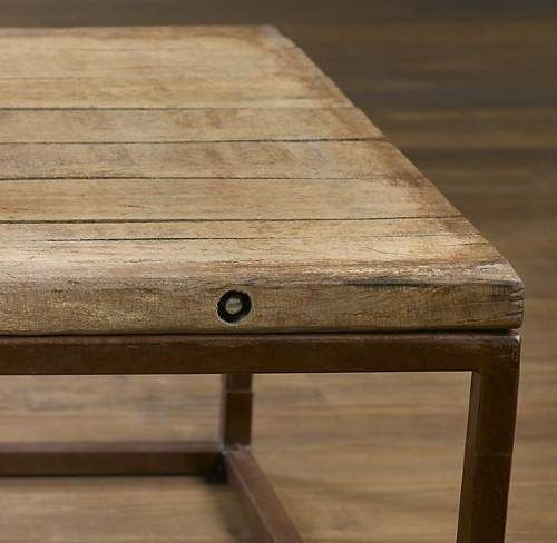Mesa madera y hierro buscar con google mesas - Mesa madera industrial ...