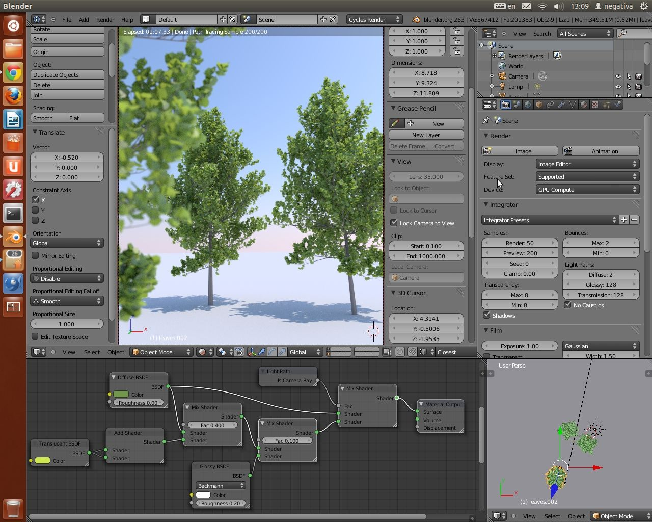 Realistic leaf material Cycles | Software tutorials in 2019
