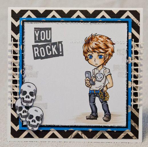 Visible Image Stamps - Max Rocks - Teenage Boy card - Lisa Inkywings
