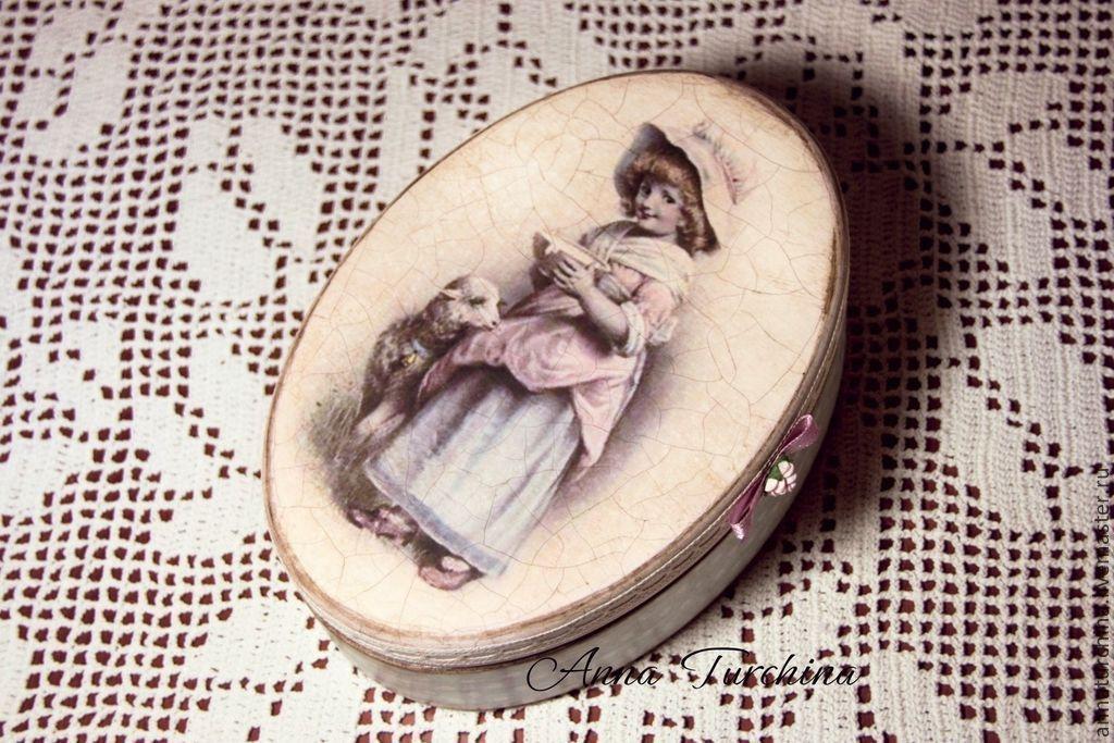 """Купить """"Любовное послание"""" шкатулочка - бронзовый, бронза, шкатулка декупаж, шкатулка для украшений, шкатулка деревянная"""