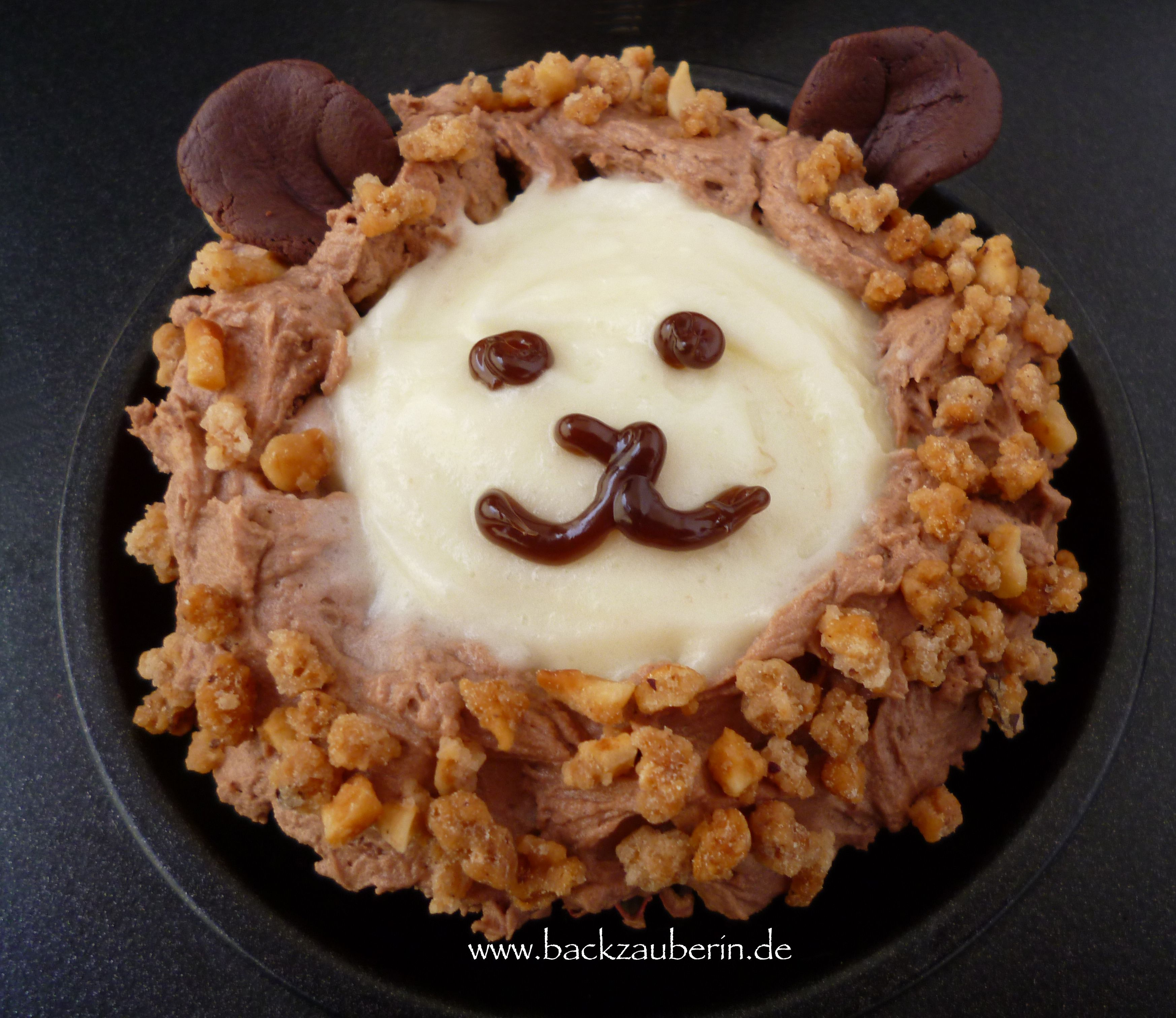 Marvelous Cupcake mit L wengesicht lion cupcake Zum Rezept Find the recipe here http