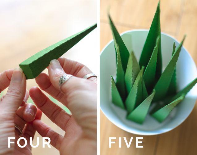 Tutorial- Spiky Paper Houseplant - Katie Jarman