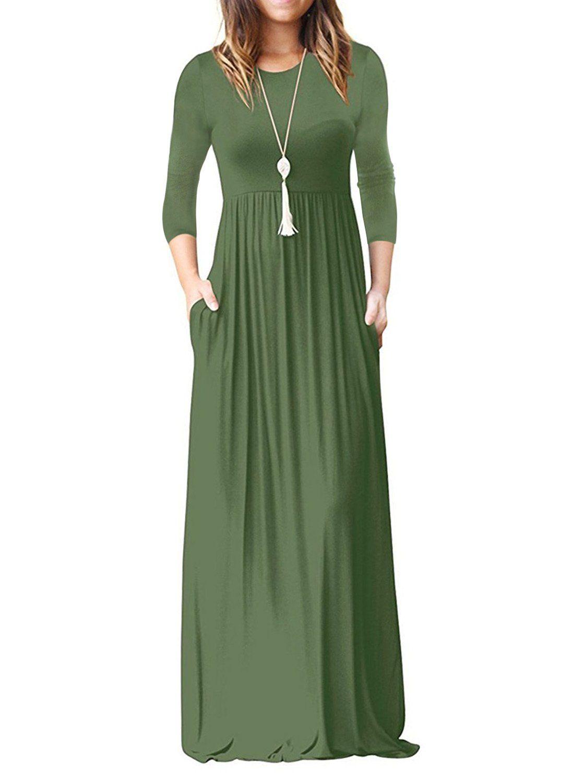 Reoria Womens Sleeve Dresses Pockets Long Dress Casual Casual Dresses Maxi Dresses Casual [ 1500 x 1117 Pixel ]