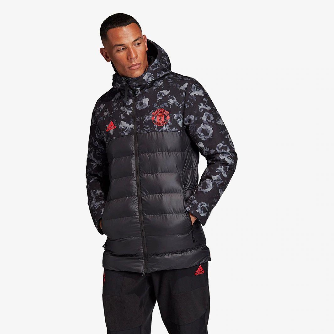 Adidas manchester united 1920 ssp padded jacket black