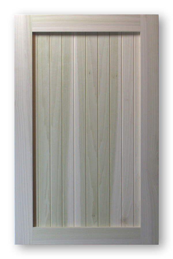 Shaker Vee Groove Cabinet Door Poplar Frame Poplar Panel