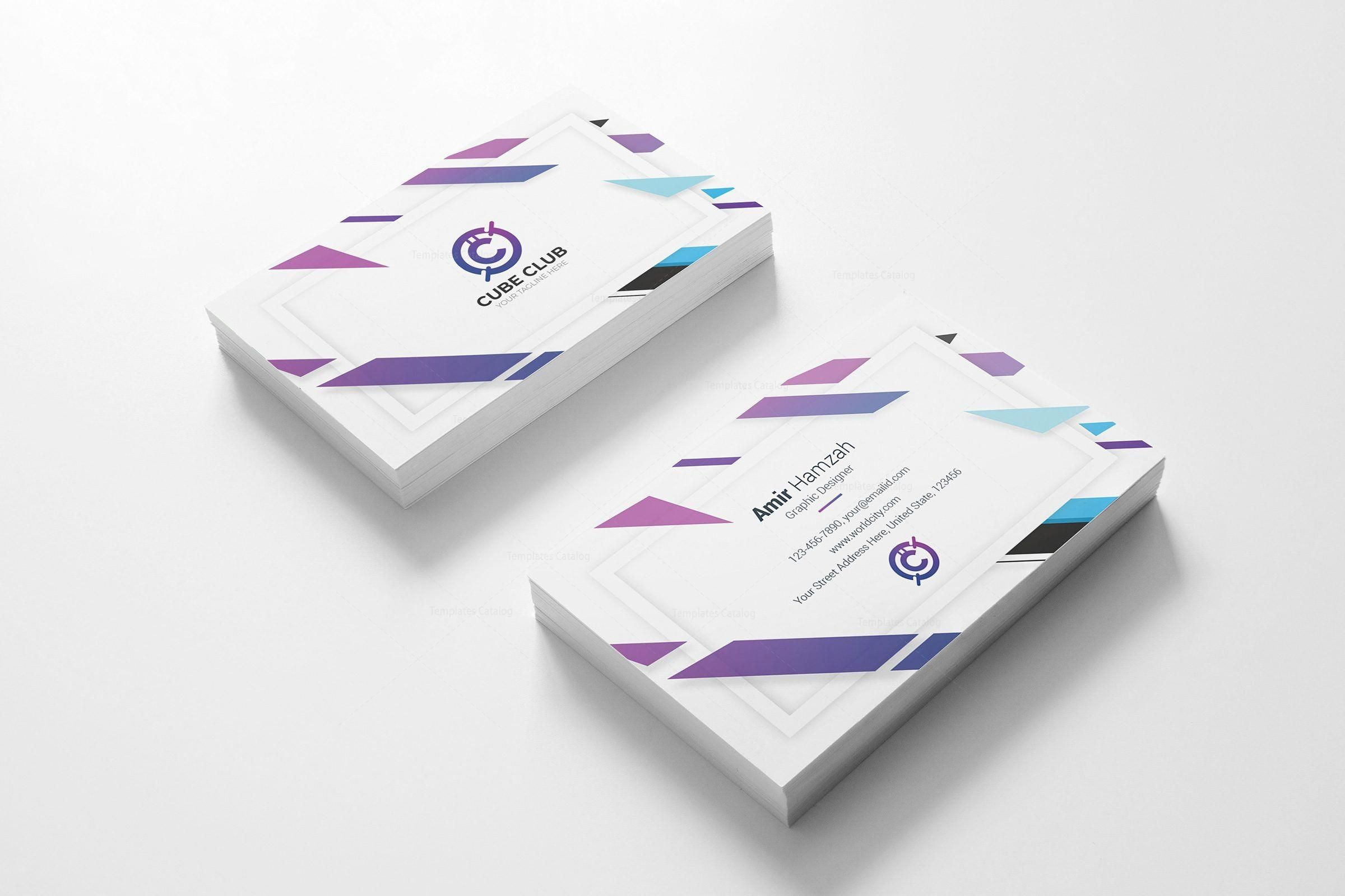 Cube Club Business Card Design Template Graphic Yard Graphic Templates Store Business Card Design Modern Business Cards Design Card Design