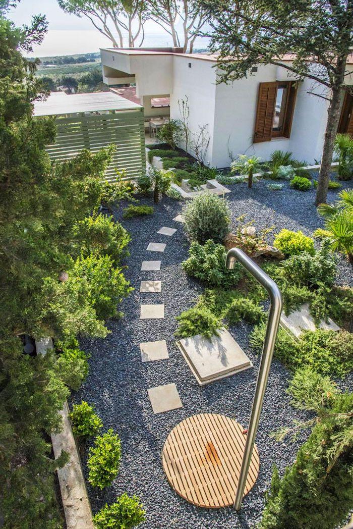 1001 ideen und bilder zum thema gartendusche selber for Gartengestaltung olivenbaum