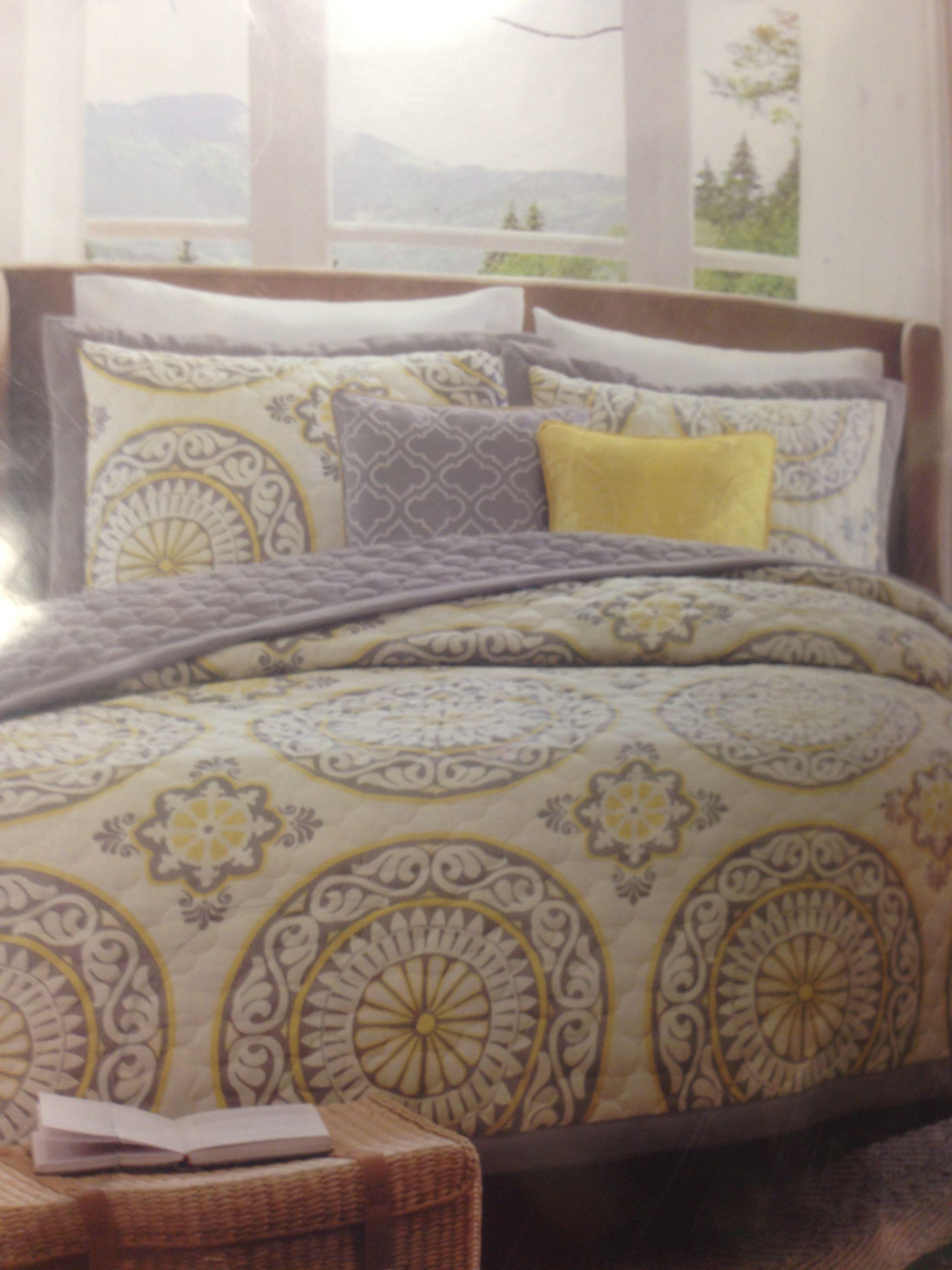 Grey Amp Yellow Bedding Target Bedroom Ideas Pinterest