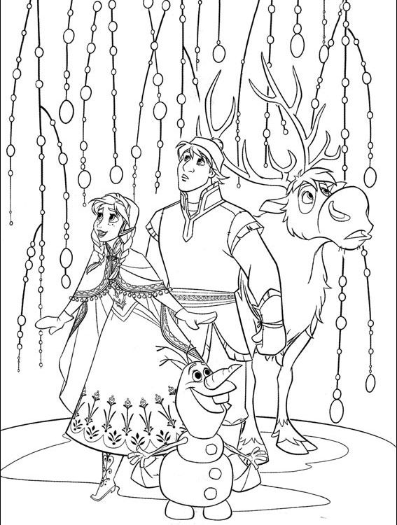 Free Printable Frozen Coloring Pages for Kids | Frozen coloring ...