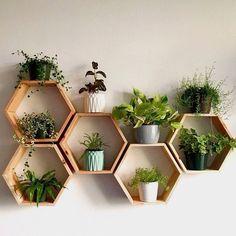 Set of 6 Medium 2 Deep Hexagon Shelves Honeycomb | Etsy | Idéias de decoração para casa, Apartamentos decorados, Diy casa