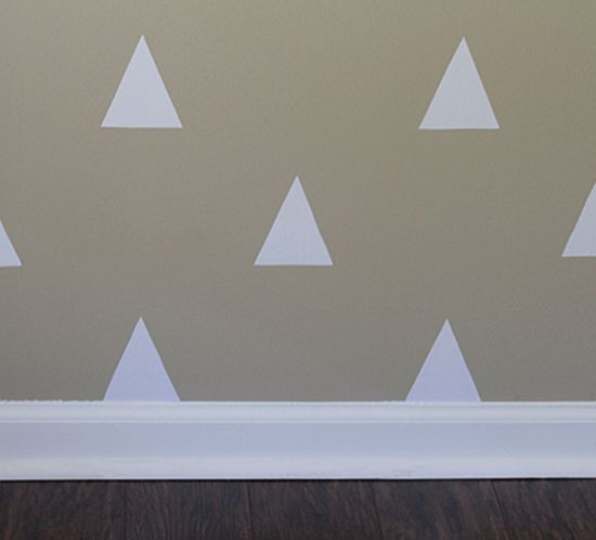 Spruce Up A Bare Accent Wall: DIY Triangle Accent Wall For Less Than $3