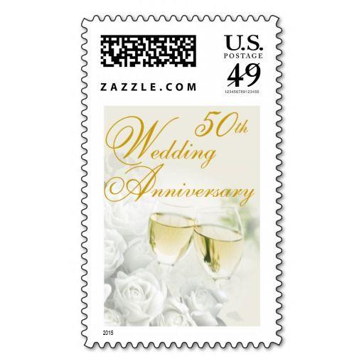 50th Wedding Anniversary Postage Stamp Zazzle Com 50th Wedding Anniversary Happy Anniversary Wishes 50th Anniversary