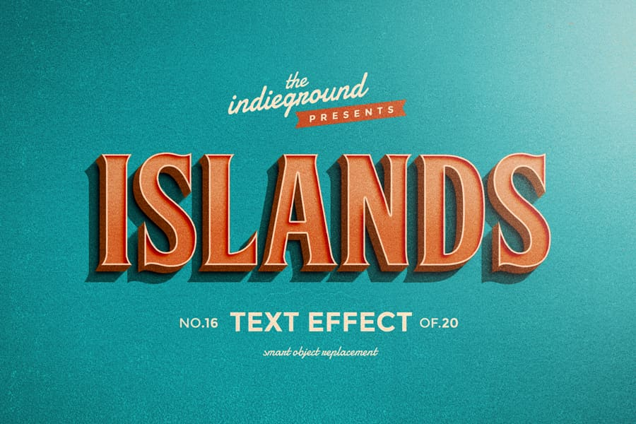 Retro Vintage Text Effect N 16 Indieground Design Retro Text Text Effects Vintage Text