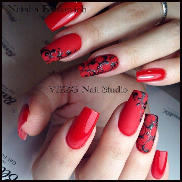Pin By Amber Maxwell On Nails Pinterest Red Nails Manicure And