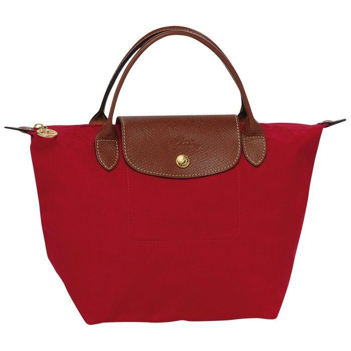 LONGCHAMP LE PLIAGE SMALL HANDBAG RED - Longchamp Online ...
